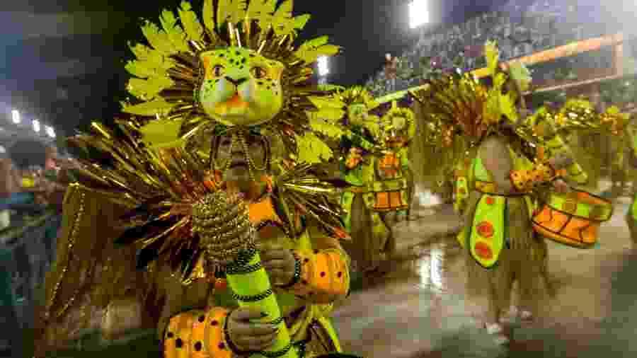 Estácio de Sá durante desfiles pela Série A do Carnaval do Rio - Ellan Lustosa/Código 19/Estadão Conteúdo