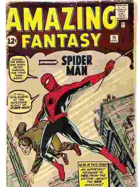 """Número 15 da série """"Amazing Fantasy"""", de 1962 - Reprodução"""