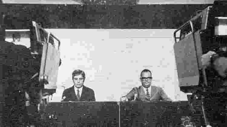 Boni e Walter Clark fizeram do 'Jornal Nacional' o primeiro programa de rede do país - Reprodução - Reprodução