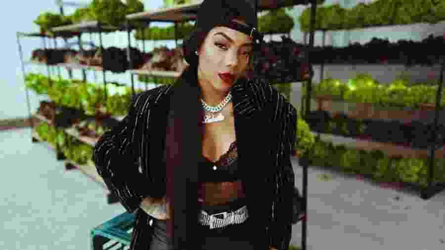 Ludmilla nas gravações do videoclipe de Verdinha, sua nova música de trabalho - Divulgação