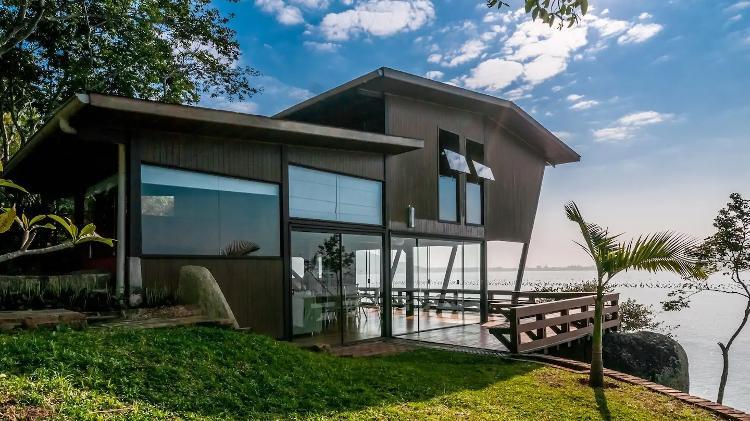 Casa em Santa Catarina é objeto de desejo de viajantes que utilizam o Airbnb - Divulgação
