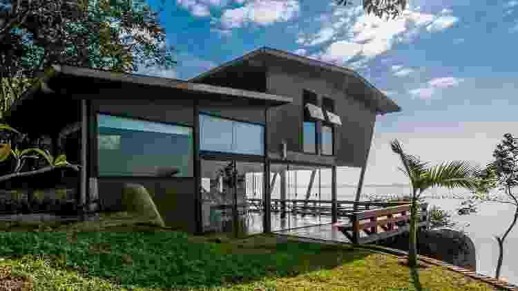 Casa em Santa Catarina é objeto de desejo de viajantes que utilizam o Airbnb - Divulgação - Divulgação