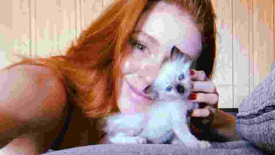 Marina Ruy Barbosa com a gatinha adotada - Reprodução/Instagram