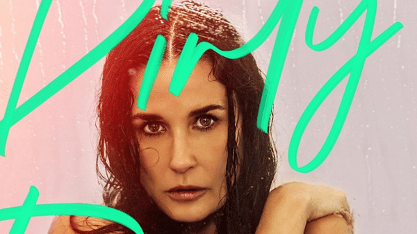 "Demi Moore na capa do podcast erótico ""Dirty Diana"""