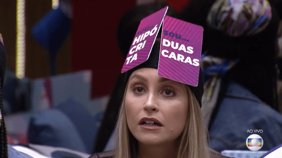 """Carla Diaz durante o jogo da discórdia do """"BBB 21"""" desta segunda-feira (1) - Reprodução/Globoplay"""