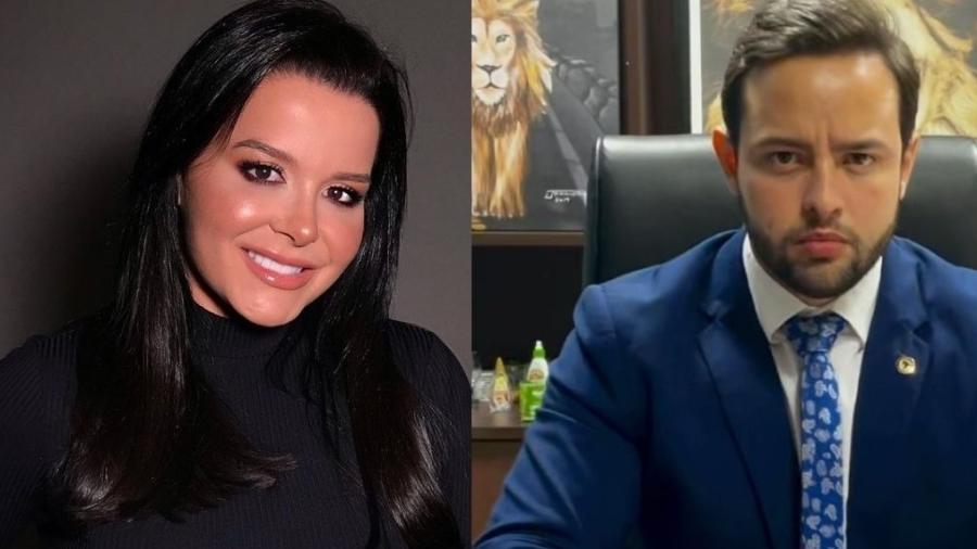 Maraisa, da dupla com Maiara, e deputado estadual do Mato Grosso Ulysses Moraes (PSL) - Reprodução/Instagram/Montagem - Splash