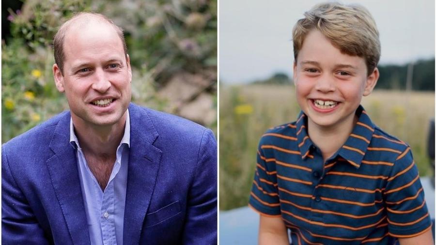 Princípe William e seu filho mais velho, príncipe George - Reprodução/Instagram