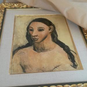 """O quadro """"Head of a Young Woman"""", de Pablo Picasso, avaliado em mais de 25 milhões de euros - AFP PHOTO"""