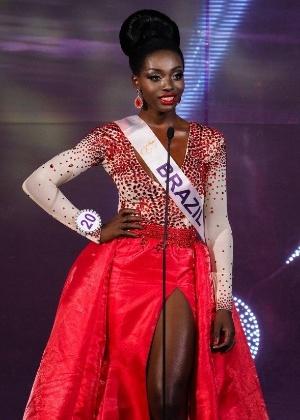 Valesca Dominik Ferraz, 23, era a única participante negra da edição deste ano do Miss International Queen - Divulgação