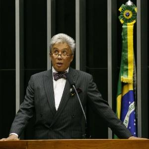 Clodovil, quando foi deputado, na Câmara - Sérgio Lima/Folhapress