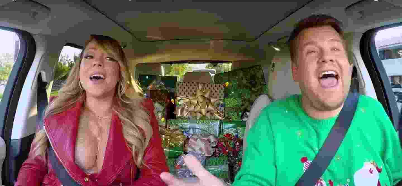 """Mariah Carey participa do quadro """"Carpool Karaoke"""" - Reprodução/YouTube"""