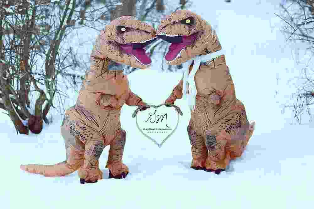 Noivado T Rex - Reprodução/gbmaphotography.com