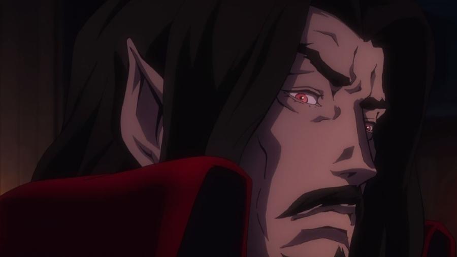 """Cena da série """"Castlevania"""" - Drácula - Reprodução"""
