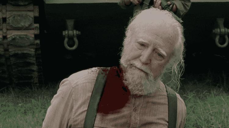 Morte Hershel Walking Dead - Reprodução/AMC - Reprodução/AMC