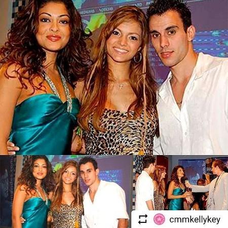 Juliana Paes, Kelly Key e Mico Freitas em foto antiga - Reprodução/Instagram