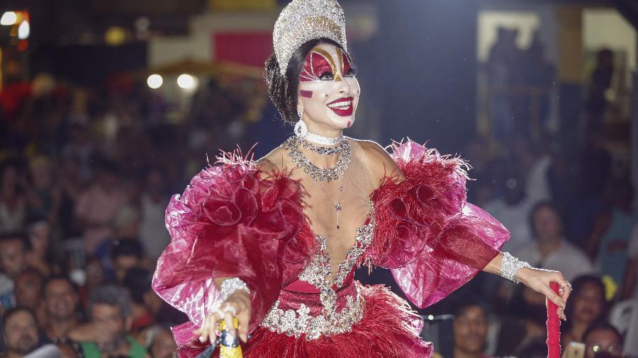 Sabrina Sato durante o Glam Gay, no Rio de Janeiro  - Marcelo de Jesus/UOL