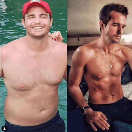 Max Fercondini mostra antes e depois - Reprodução/Instagram/maxfercondini