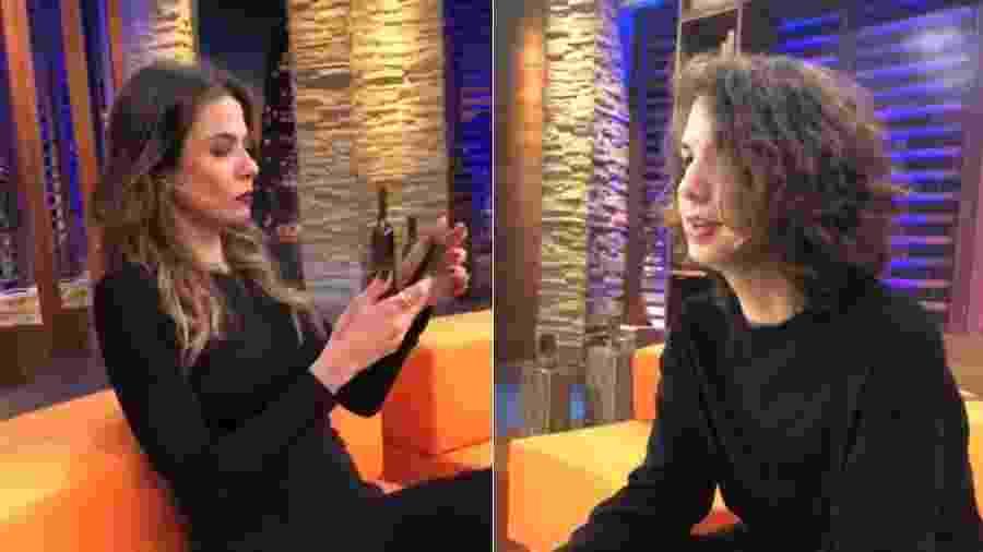 Luciana Gimenez entrevista o filho, Lucas Jagger, em seu talk show na RedeTV! - Montagem/Reprodução/Instagram