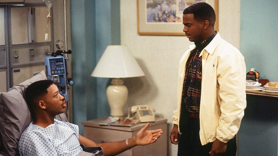 """Will Smith e Alfonso Ribeiro em cena de """"Um Maluco no Pedaço"""" - NBC via Getty Images"""