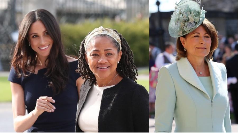 Doria Ragland deve fazer parte da vida da filha, Meghan, enquanto Carole Middleton raramente aparece em eventos reais - Getty Images