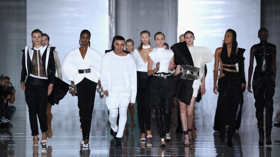 Desfile da Balmain na Semana de Moda de Paris, em setembro - Pascal Le Segretain/Getty Images
