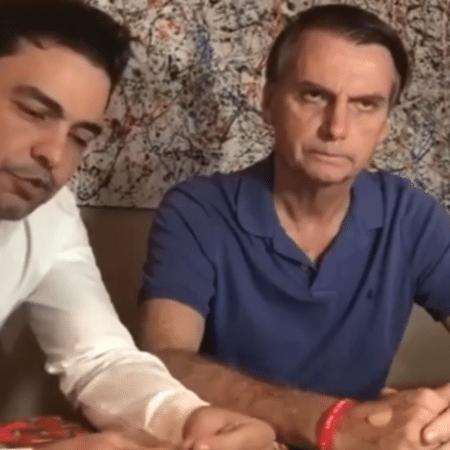 Zezé Di Camargo e Jair Bolsonaro - Reprodução/Instagram