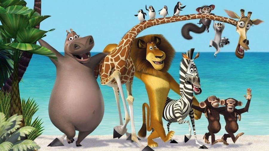 """Imagem do filme """"Madagascar"""", exibido pela Globo na """"Sessão da Tarde"""" - Reprodução/Twitter/redeglobo"""