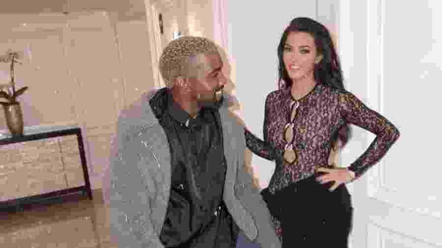 Kim Kardashian e Kanye West; rapper, candidato à presidência dos EUA, estaria passando por uma crise de bipolaridade - Reprodução/Instagram