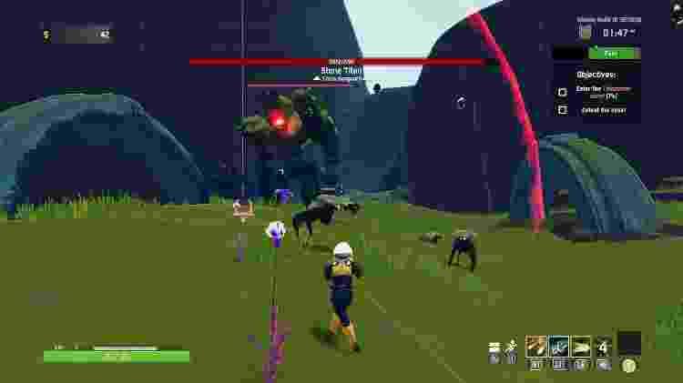 Derrote o chefe e recarregue o portal para viajar para outro planeta - Reprodução