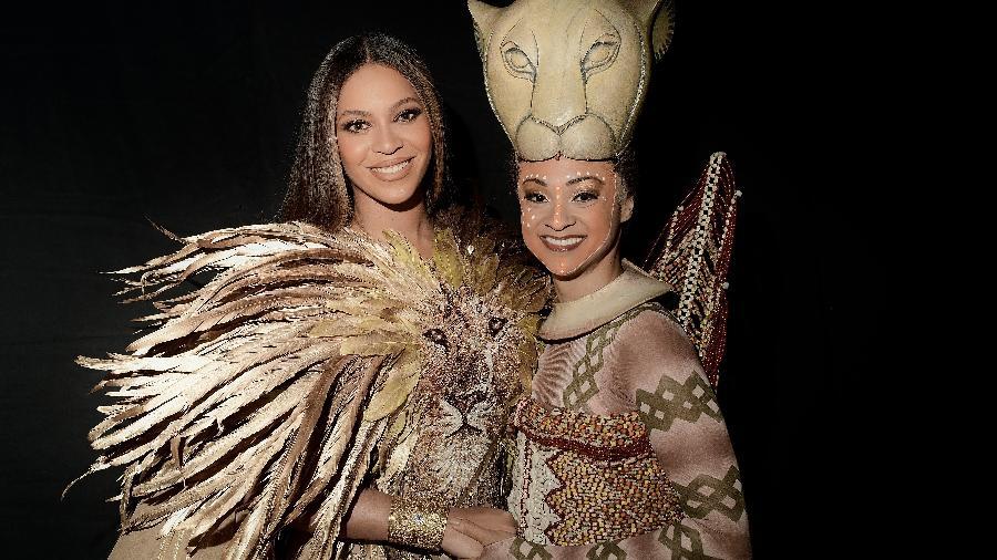 Beyoncé com Syndee Winters, a Nala da Broadway - Divulgação/EW