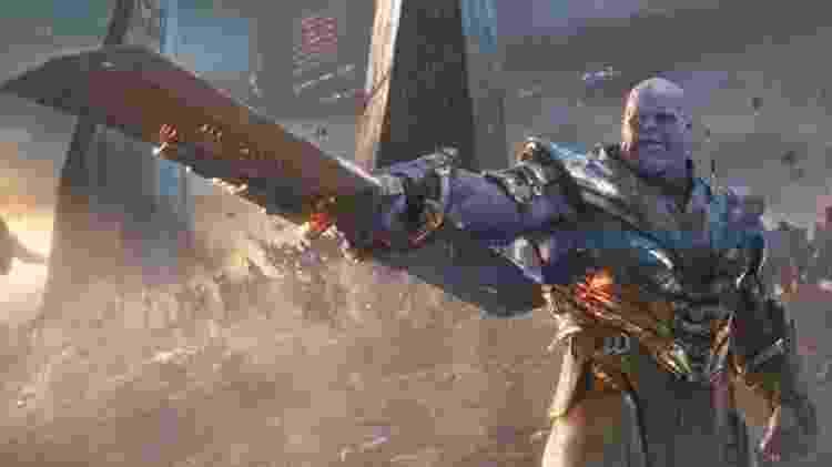 Thanos e sua arma em Vingadores: Ultimato - Divulgação - Divulgação