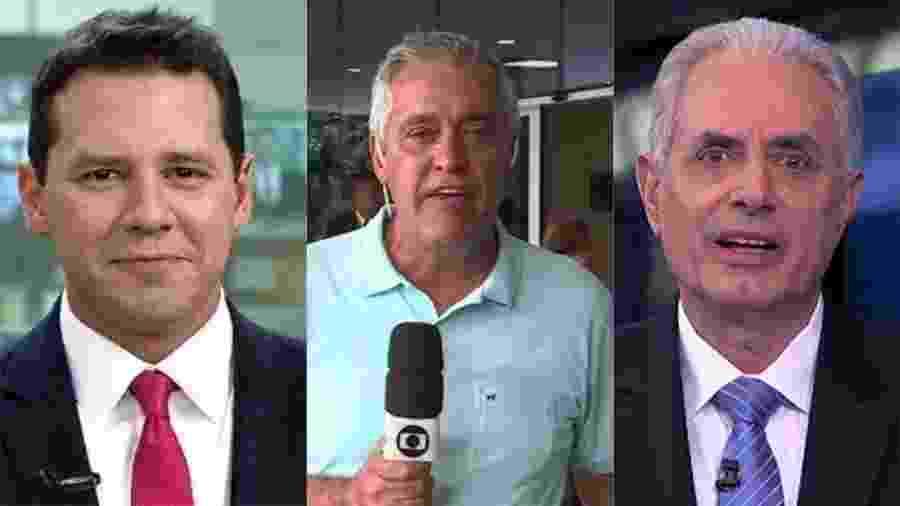 Dony De Nuccio, Mauro Naves e William Waack - Reprodução/Globo