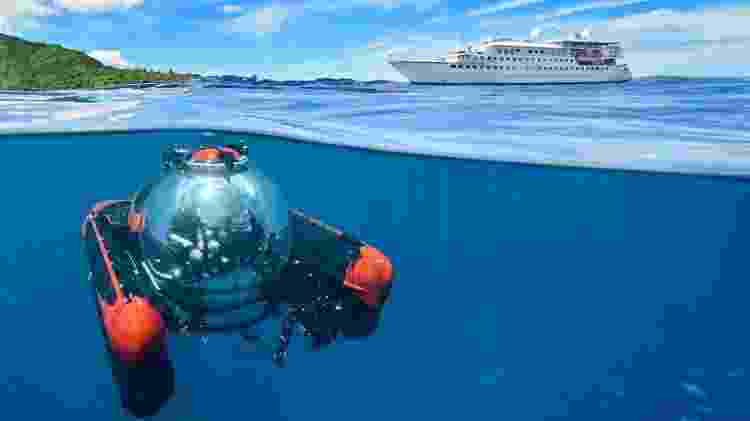 O Crystal Espirit é outra embarcação exclusiva para apenas 62 hóspedes a oferecer passeios de minisubmarino a bordo - Divulgação - Divulgação