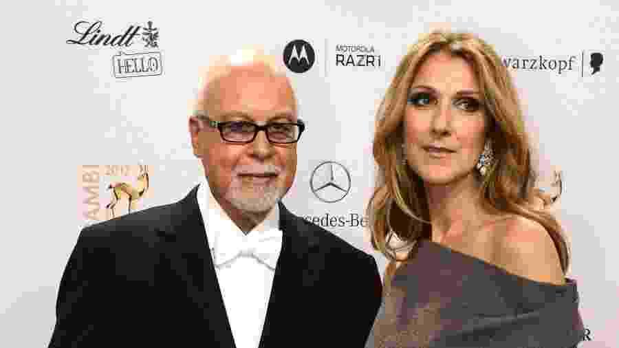 Celine Dion e o marido René Angélil, que morreu em janeiro de 2019 - AFP PHOTO /FILES/ JOHN MACDOUGALL