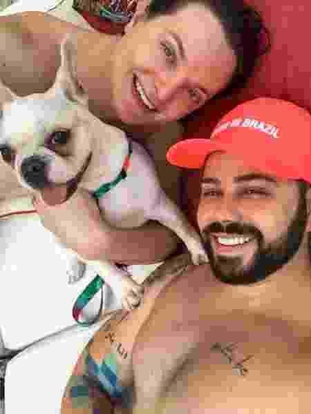 William e Gustavo no dia do ocorrido, em Guaratuba (PR) - Arquivo pessoal