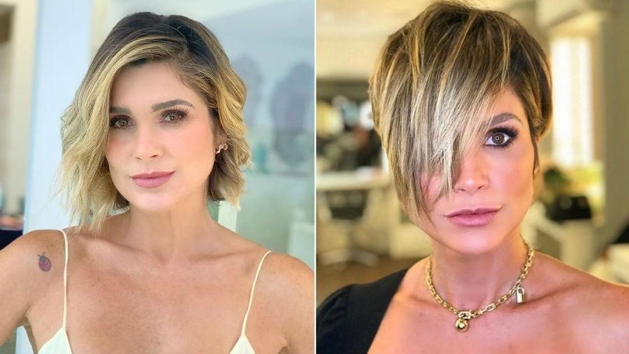 Flávia Alessandra antes e depois de mudar o visual - Reprodução/Instagram