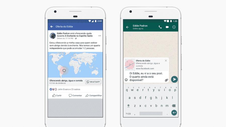 Recurso de emergência do Facebook - Divulgação