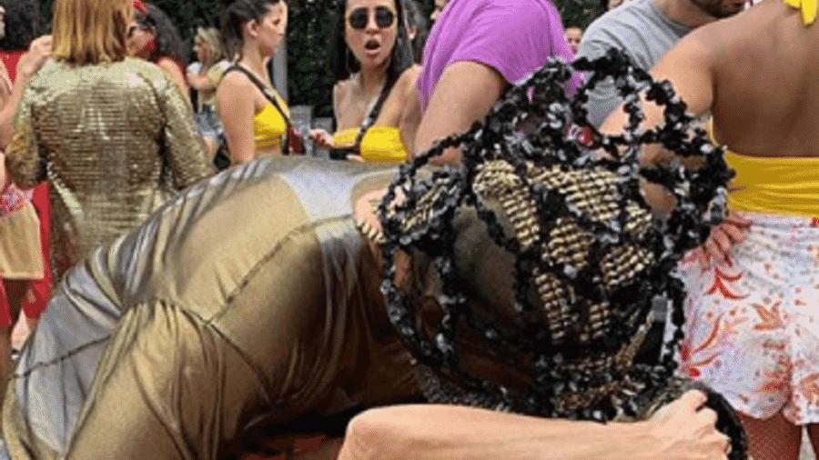 Beijo entre Túlio Gadêlha e Fátima Bernardes surpreendeu foliã em Olinda - Reprodução/Instagram