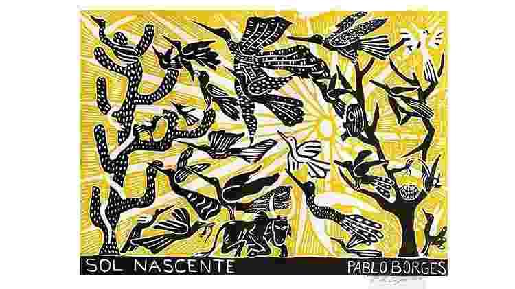 """""""Sol Nascente"""", obra do xilógrafo Pablo Borges - Arquivo pessoal/Pablo Borges - Arquivo pessoal/Pablo Borges"""