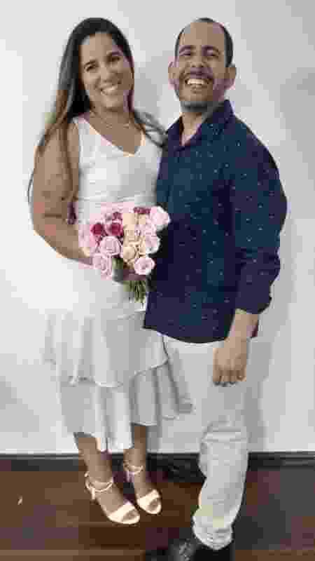 Casamento realizado pela internet em cerimônia online - Arquivo Pessoal - Arquivo Pessoal