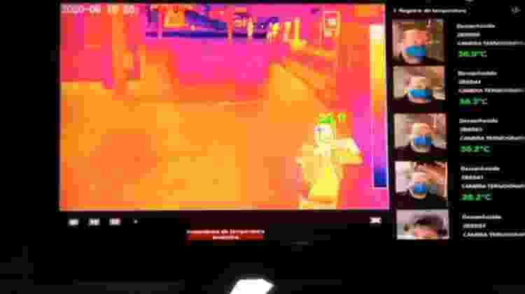 Câmera de leitura térmica na rodoviária de Porto Alegre - Luciano Nagel/UOL - Luciano Nagel/UOL