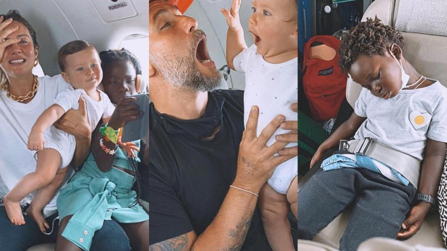 Bruno Gagliasso viaja com toda família de avião pela primeira vez - Reprodução/ Instagram @brunogagliasso