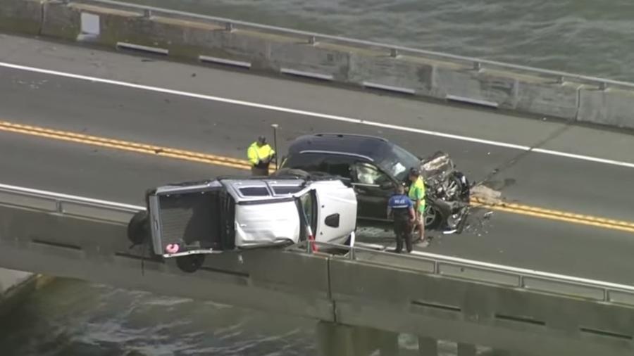 Acidente em ponte em Maryland (EUA) - Reprodução