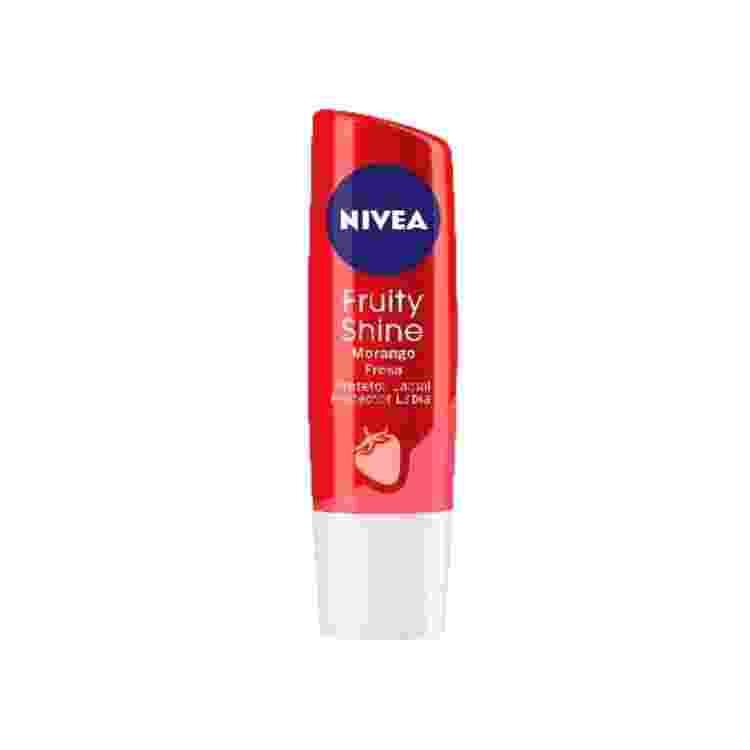 Bálsamo Lip Care Fruity Shine Strawberry, Nivea, R$ 22 - Divulgação - Divulgação