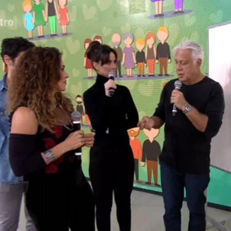Fagundes é casado com Alexandra Martins (centro) e separado de Mara Carvalho (à esquerda) - Reprodução/TV Globo
