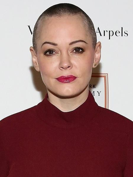 A atriz Rose McGowan que era próxima de Anthony Bourdain - Getty Images