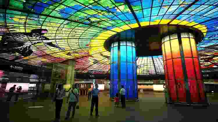 Estação de metrô Formosa Boulevard, em Taiwan - Peellden/Creative Commons/CC BY-SA 3.0 - Peellden/Creative Commons/CC BY-SA 3.0