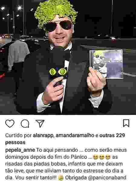 """Anne Surita, mulher de Emílio Surita desabafa sobre o fim do """"Pânico"""", mas apaga post - Reprodução/Instagram - Reprodução/Instagram"""