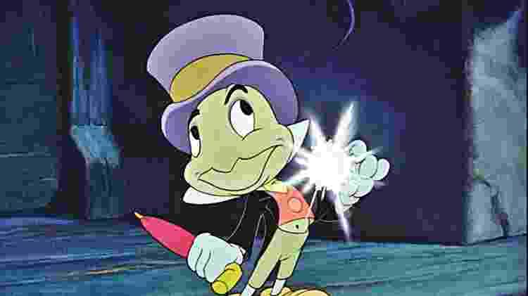 """O Grilo Falante de """"Pinóquio"""", da Disney - Reprodução - Reprodução"""