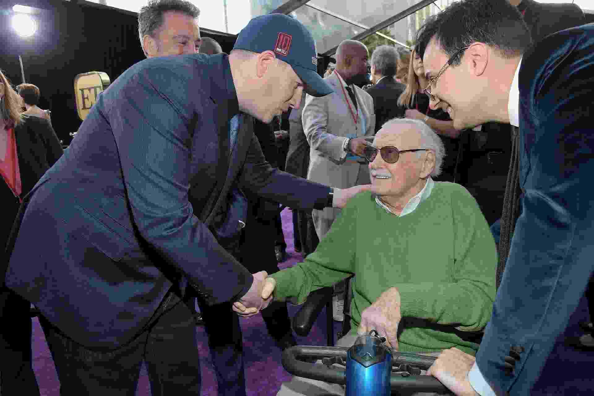 """Stan Lee participa da estreia de """"Vingadores: Guerra Infinita"""", em Los Angeles. O lendário quadrinista não anda bem de saúde, e compareceu de cadeira de rodas - Charley Gallay/Getty Images"""